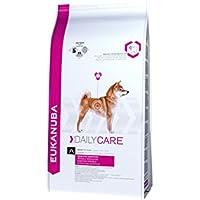 Eukanuba Daily Care Hundefutter – Trockenfutter in der Geschmacksrichtung Huhn für Hunde mit sensibler Verdauung - geeignet für alle ausgewachsenen Rassen – 1 x 12,5 kg Beutel