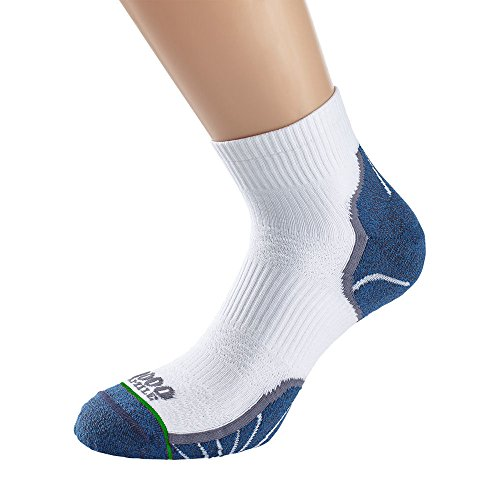Sport Lite Socken (1000 Mile Damen Breeze Lite Sport Socken M Weiß/Navy)