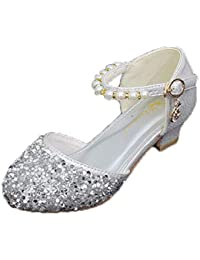 LCXYYY Kinder Mädchen Festlich Glitzer Pailletten Perle High Heels  Tanzschuhe Studenten Ballerina Prinzessin Sandalen Frozen Schuhe a517152f51