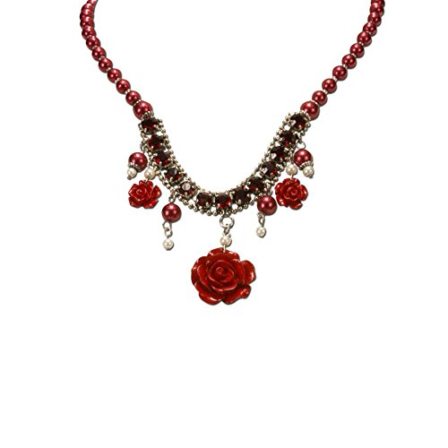 alpenflstern-womens-flora-black-floral-pearl-necklace-red-dhk15600020