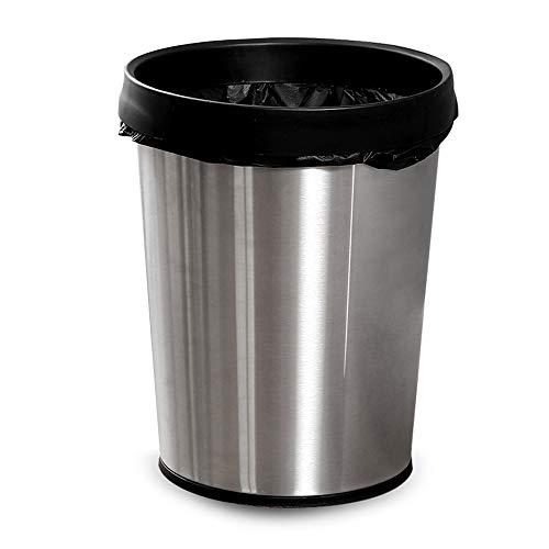 Yzpljt secchio di pulizia della scatola di immagazzinamento dei rifiuti della carta da cucina della spazzatura di tipo rotondo della borsa di pressione dell'acciaio inossidabile
