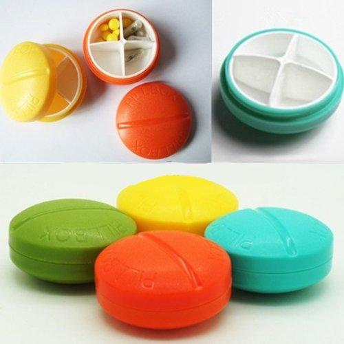 4-Fach-Reisen-Pille-Kasten-Organisator Tablet Medizin-Speicher-Halter (Fach-speicher-kasten)