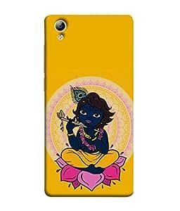 FUSON Designer Back Case Cover for Vivo Y51 :: VivoY51L (Dhanalakshmi Vaibhavlakshmi Shubhdeepavali Happy Diwali Laxmi Laksmi Kamala)