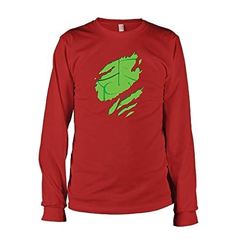 TEXLAB - Smasher Body - Herren Langarm T-Shirt, Größe XXL, rot (Herr Unglaubliche Kostüm-t-shirt)
