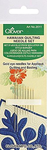 Clover Hawaiian Quilting Nadel Set Gold-eye Applique Needles