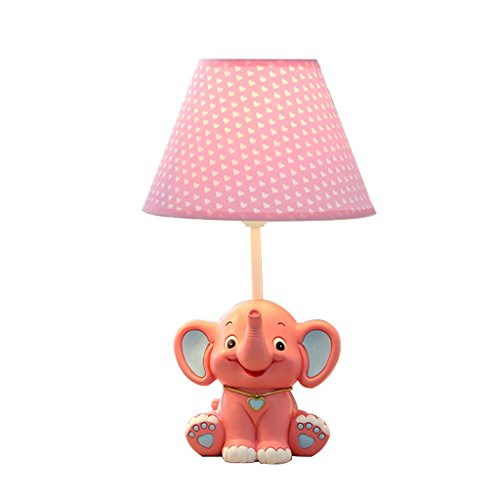 BJ Schreibtischlampen- Kindertischlampe Cartoon Kleine Elefant Mode Kinderzimmer Tischlampe Geburtstagsgeschenk (Farbe : Pink-Large)