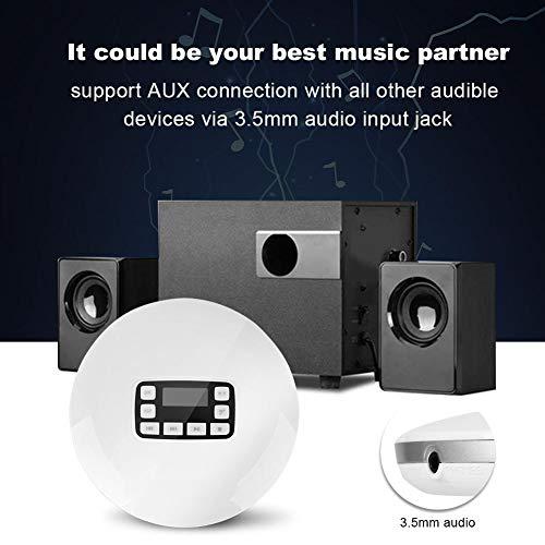 Richer-R Lecteur CD avec Sortie Audio de Haute qualité, Portable Antichoc Bluetooth HiFi stéréo Lecteur de Musique CD avec écouteurs EU Plug... 6