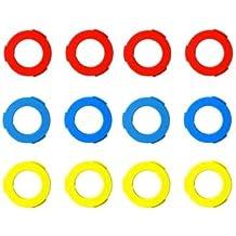2 Pares = 4 Unidades Almohadillas hidr/áulicas para Magura P4B Color Rojo