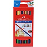 Faber Castell Bi-Color Pencil Set - Pack of 12 (Assorted)