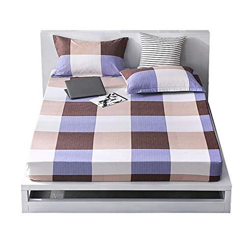 KEYREN Bettwäschesatz Kissenbezug Spannbetttuch Komfortables, atmungsaktives Polyester-Wohnzimmer(Bed Mattress 180 * 200 * 1 Pillowcase *2) -