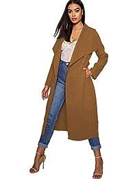 7f60916f012d5 Aramoniat Donna Cappotti Lungo Cascata Spolverino Cappotto da Donna