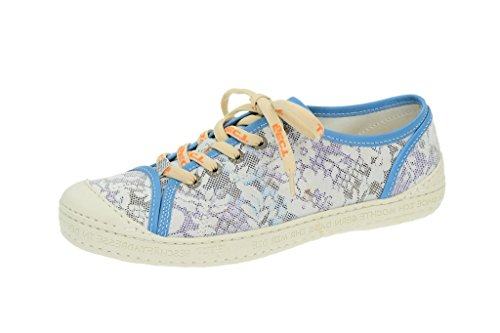EjectEject Dass - Sneakers - blau mit weißem Blümchenmuster - Sneaker Donna , Blu (blu), 38