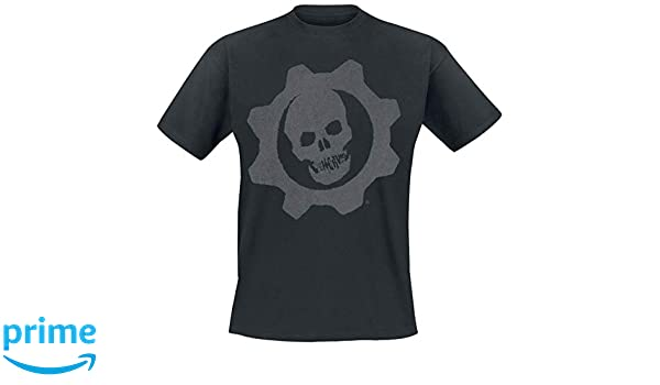 Gears of War T Shirt Skull Badge Emblem Logo Nouveau Officiel Gamer Homme Size L
