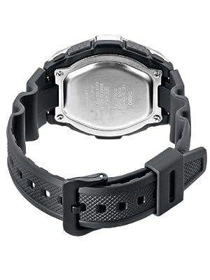 CASIO Collection AQW-101-1AVER - Reloj de caballero de cuarzo, correa de resina color negro (con cronómetro, alarma, luz) de Casio
