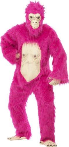 Generique - Pinkes Gorilla Kostüm für Erwachsene Einheitsgröße