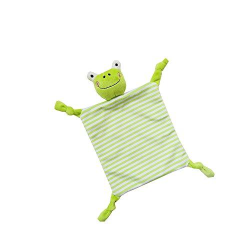 INCHANT Sicherheit Blanket Spielzeug - Comfort Blankie für Kind, Säugling, Kleinkind - Stofftier Plüsch Decke bestes Geschenk für Baby, Green Frog