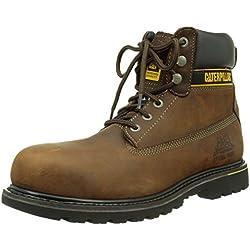 CAT Footwear Holton St SB HRO SRC/Mens Dark Brown, Bottes de sécurité Homme, Marron (Coffee), 45 EU