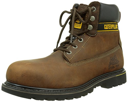4fbebcb23 Cat Footwear Cat Caterpillar Steel Toe Sicherheit Stiefel Holton Dark Brown  Nr. 44