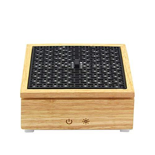 ZXM Aroma Diffusore 120 ML Scatola Quadrata Legno Olio Essenziale Aromaterapia Macchina Umidificatore Ad Ultrasuoni Silenzioso con Nebbia Fredda con 6 Luci LED Colorate Intercambiabili
