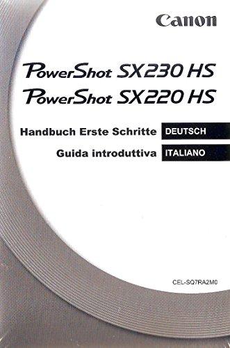 DSC User Manuel Kit Canon PowerShot SX230 HS W4 (dt., it., frz., niederl.)