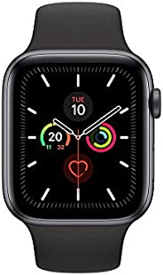 Apple Watch Series 5 GPS 44mm Aluminium Case with Black Sport Band (S/M and M/L) - Space Grey