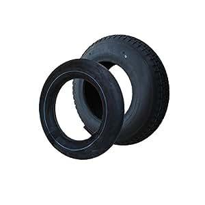 SET Reifen+Schlauch 400x100 4.80/4.00-8 Blockprofil PR4-Lagen Tragfähigkeit 300 kg