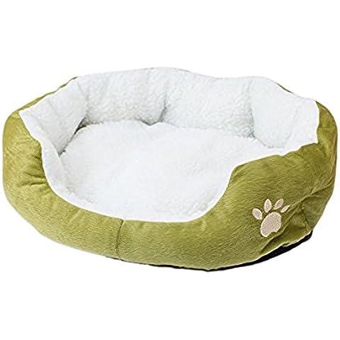 DAYAN linda Super Cat blanda cama del gato de casa de invierno cálido algodón perro de mascota la comida del perrito mini perro de mascota suave y cómodo sofá de color verde
