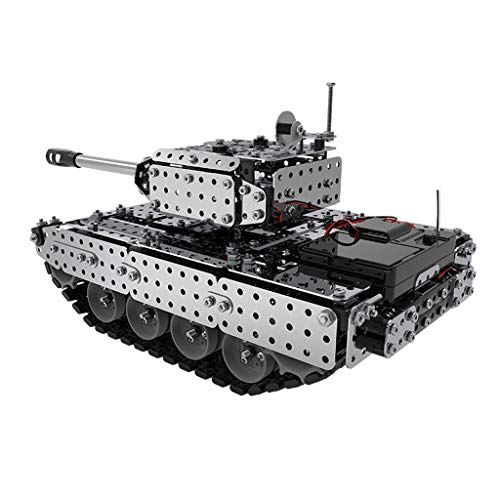 Skryo Mofun Rostfrei Stehlen Versammlung Remote Steuerung Panzer Militär Fahrzeug RC Car Toys // Mofun Stainless Steel Assembly Remote Control Tank Military Vehicle RC Car Toys -