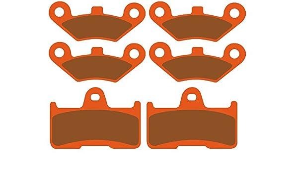 hinten 3x Bremsbel/äge Ersatzteil f/ür//kompatibel mit CF Moto CF800 2 C-Force vorne