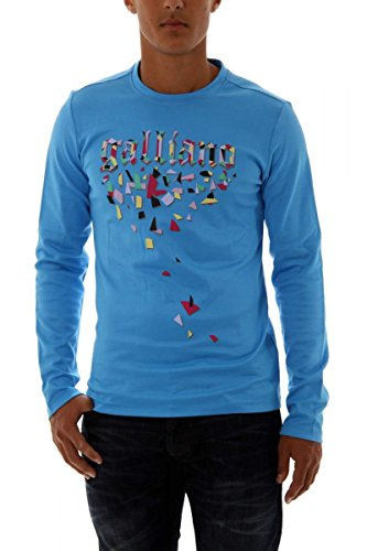 john-galliano-sweat-shirt-homme-bleu-bleu-ciel-xs