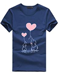CUTUDE Tops de Mujer, Camiseta de Manga Corta con Estampado de Elefante, Talla Grande e Informal