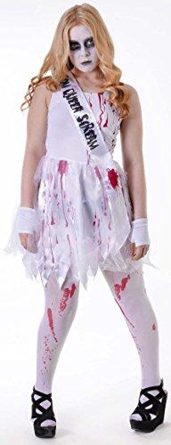 Blutige Prom Queen - Halloween Teen Kostüm - Größe 6 bis 10 (Queen Prom Kostüm Ideen Halloween)