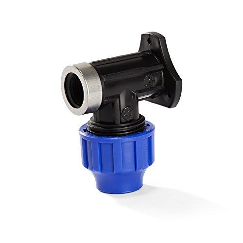 H2O-Flex PP-Fitting, Klemmverbinder - 25er Wandwinkel mit 3/4