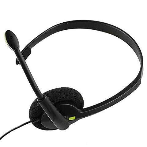 TRIXES schwarzes Xbox One kompatibles Chat Kopfhörer Headset