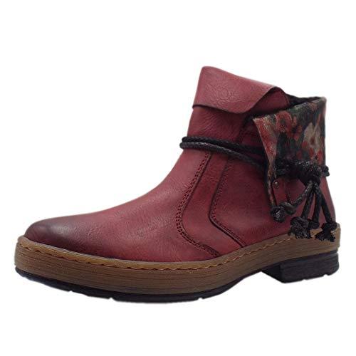 Women's Rieker BootsRedburgundy Ankle 35639 Z6771 Eu QdhCxtsr