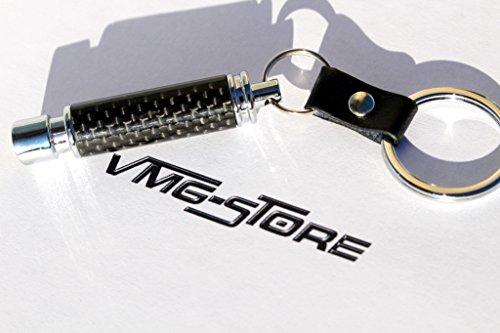Carbon Schwarz Auspuff Schlüsselanhänger -von VmG-Store Felge BBS Turbo keychain Tuning Auto