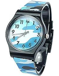 Scpink Reloj para niños, camuflaje Moda infantil Reloj de pulsera de cuarzo de silicona Reloj