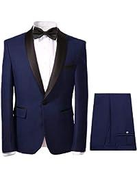 YOUTHUP Herren 2-Teilig Anzüge Smoking Tuxedo Sakko und Hose