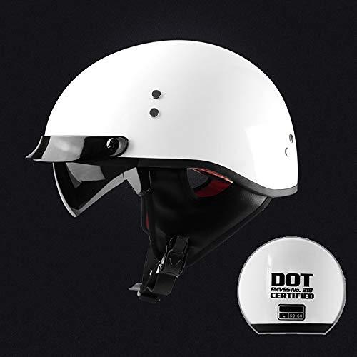 GGXX Motorradhelm Helmet Retro Bobber Biker Jethelm Moto Helmets Radhelm Roller-Helm Cruiser -Helm Jethelm FüR MäNner/Frauen BrillenträGer· ECE -DOT/Zertifiziert