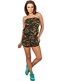 Ladies Camo Hot Jumpsuit wood camo XS