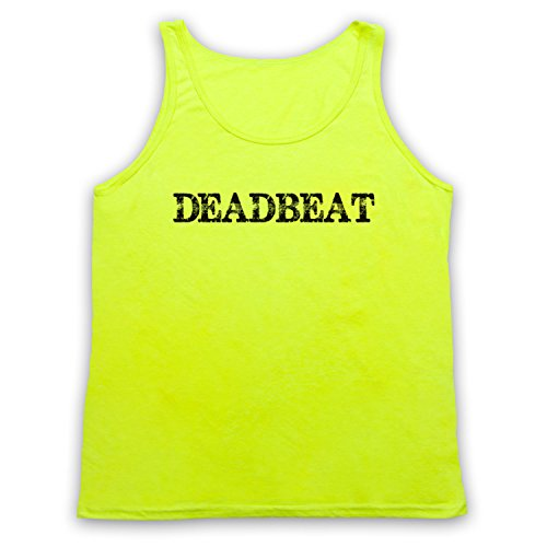 Deadbeat Funny Slogan Tank-Top Weste Neon Gelb