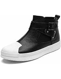 Hombres Zapatos Casuales 2017 Otoño Respirable Patineta Zapatos Hebilla Martín Botas ( Color : White , Size : 39 )