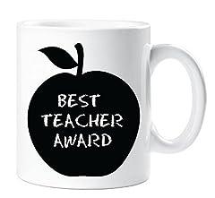 Idea Regalo - Best Teacher PREMIO MELA tazza di ceramica regalo Thank You Teacher