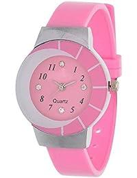 Maan International Zibra01 Designer Pink Analogue Women & Girls Watch
