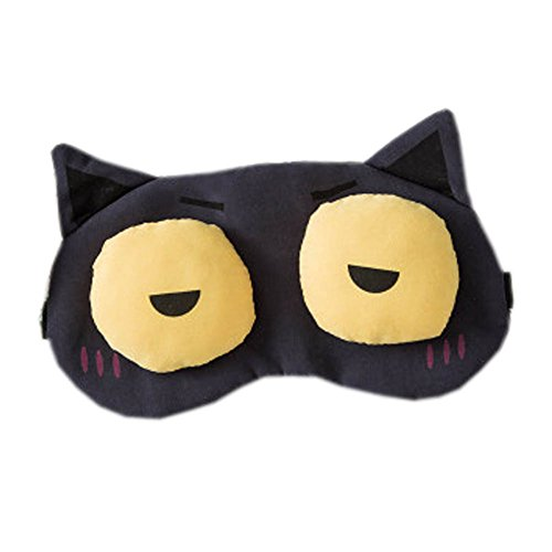 Schlafmaske Schlafenaugen-Abdeckung Super-Smooth Augenmaske für Reise, Blau Schwarz