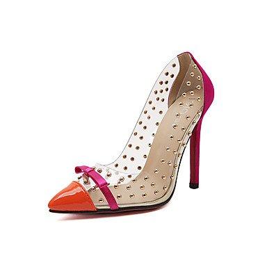 Moda Donna Sandali Sexy donna tacchi Primavera / Estate / Autunno / Inverno Comfort PVC matrimonio abito / Stiletto Heel Slip-on Blue