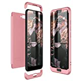 CE-Link Huawei Honor 10 Hülle Hardcase 3 in 1 Handyhülle 360 Grad Hard Hartschale Grad Full Body Case Cover Schutzhülle Bumper - Rose Gold