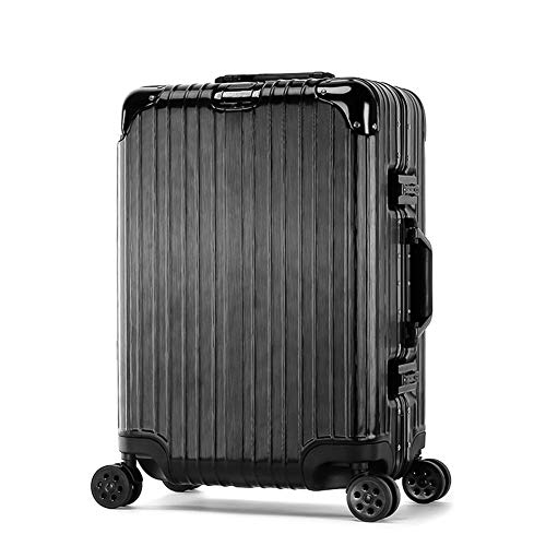 Koffer Trolley Carry On Hand Cabin Gepäck Hard Shell Travel Bag Leichtgewicht Durable 360 ° Spinner Wheels,Black,22inches Hardshell Fällen