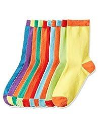 Red Wagon Jungen Coloured Heels Socken, Mehrfarbig (Multicolour), 26,5-30,5 (Herstellergröße: 9-12 UK), 10er-Pack