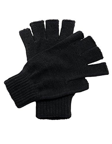 Regatta Fingerlose Handschuhe für Herren, schwarz (Damen-textil-handschuhe)